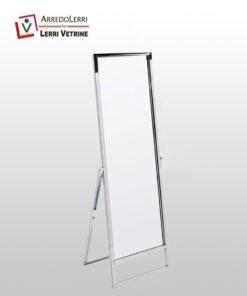 Specchiera inclinata cromata o trasparente opaco