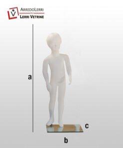 Manichino bimba indistruttibile h 100 cm.