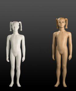 Manichini Bambina Stilizzati 8-10 Anni bianco/carne